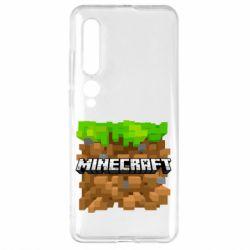 Чехол для Xiaomi Mi10/10 Pro Minecraft Main Logo