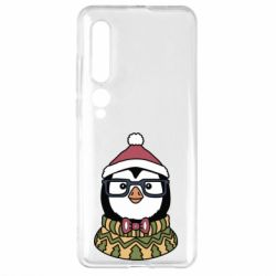 Чехол для Xiaomi Mi10/10 Pro New Year's Penguin