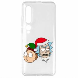 Чехол для Xiaomi Mi10/10 Pro New Year's Rick and Morty