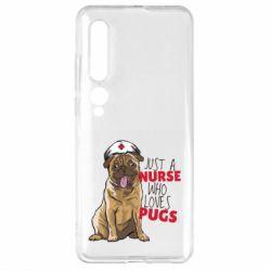 Чехол для Xiaomi Mi10/10 Pro Nurse loves pugs