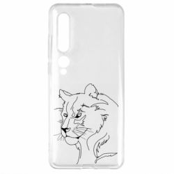 Чехол для Xiaomi Mi10/10 Pro Outline drawing of a lion