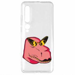Чехол для Xiaomi Mi10/10 Pro Pink dinosaur with glasses head