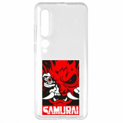 Чехол для Xiaomi Mi10/10 Pro Poster samurai Cyberpunk