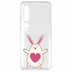 Чехол для Xiaomi Mi10/10 Pro Rabbit with a pink heart