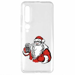 Чехол для Xiaomi Mi10/10 Pro Santa Claus with beer