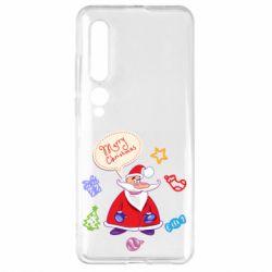 Чехол для Xiaomi Mi10/10 Pro Santa says merry christmas