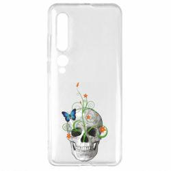 Чехол для Xiaomi Mi10/10 Pro Skull and green flower