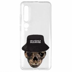 Чехол для Xiaomi Mi10/10 Pro Skull in hat and text
