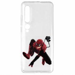 Чехол для Xiaomi Mi10/10 Pro Spiderman flat vector