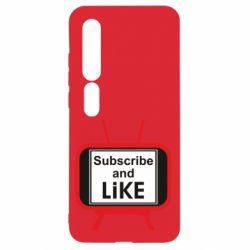 Чехол для Xiaomi Mi10/10 Pro Subscribe and like youtube