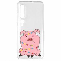Чехол для Xiaomi Mi10/10 Pro Свинья обмотанная гирляндой