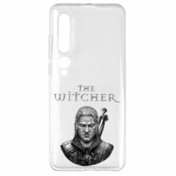 Чехол для Xiaomi Mi10/10 Pro The witcher art black and gray