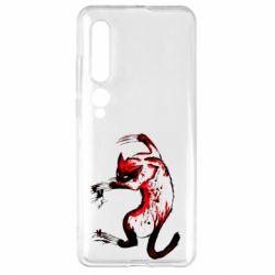 Чехол для Xiaomi Mi10/10 Pro Watercolor Aggressive Cat