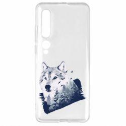 Чехол для Xiaomi Mi10/10 Pro Wolf and forest