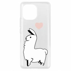Чехол для Xiaomi Mi11 Alpaca with a heart
