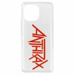 Чехол для Xiaomi Mi11 Anthrax red logo