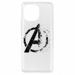 Чехол для Xiaomi Mi11 Avengers logotype destruction