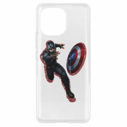 Чехол для Xiaomi Mi11 Captain america with red shadow