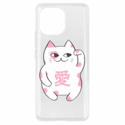 Чехол для Xiaomi Mi11 Cat and hieroglyphs