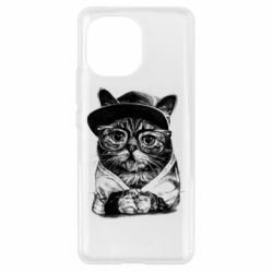 Чохол для Xiaomi Mi11 Cat in glasses and a cap
