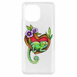Чехол для Xiaomi Mi11 Chameleon on a branch