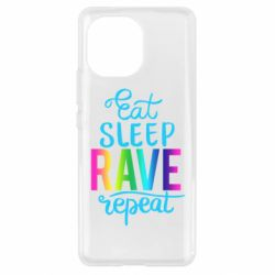 Чохол для Xiaomi Mi11 Eat, sleep, RAVE, repeat
