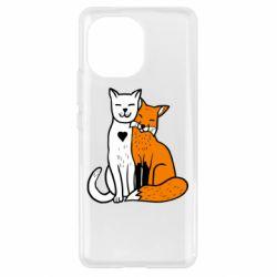 Чехол для Xiaomi Mi11 Fox and cat heart