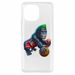 Чехол для Xiaomi Mi11 Gorilla and basketball ball