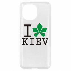 Чехол для Xiaomi Mi11 I love Kiev - с листиком