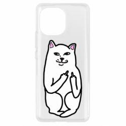 Чехол для Xiaomi Mi11 Кот с факом