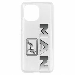 Чехол для Xiaomi Mi11 Man logo and lion
