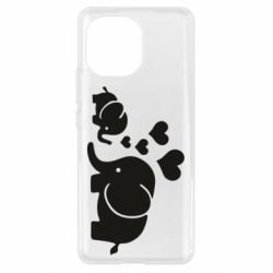 Чехол для Xiaomi Mi11 Mom and baby elephants