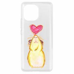 Чохол для Xiaomi Mi11 Морська свинка і сердечко