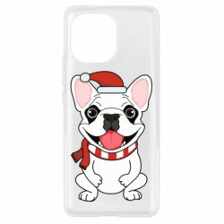 Чехол для Xiaomi Mi11 New Year's French Bulldog