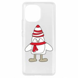 Чехол для Xiaomi Mi11 Penguin in the hat and scarf