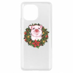 Чохол для Xiaomi Mi11 Pig with a Christmas wreath