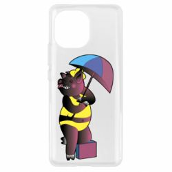 Чохол для Xiaomi Mi11 Pig with umbrella