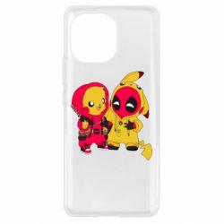 Чехол для Xiaomi Mi11 Pikachu and deadpool