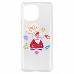 Чехол для Xiaomi Mi11 Santa says merry christmas