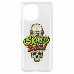 Чохол для Xiaomi Mi11 Skate or die skull