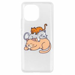 Чехол для Xiaomi Mi11 Sleeping cats