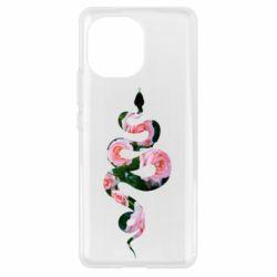Чехол для Xiaomi Mi11 Snake and roses