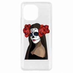 Чехол для Xiaomi Mi11 The girl in the image of the day of the dead