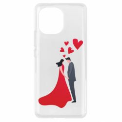 Чехол для Xiaomi Mi11 The guy and the girl in the red dress love