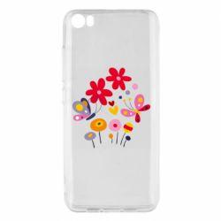 Чехол для Xiaomi Mi5/Mi5 Pro Flowers and Butterflies