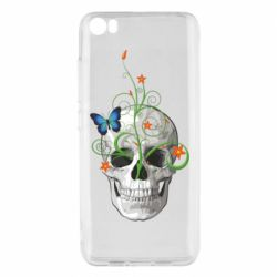 Чехол для Xiaomi Mi5/Mi5 Pro Skull and green flower