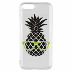 Чехол для Xiaomi Mi6 Pineapple with glasses