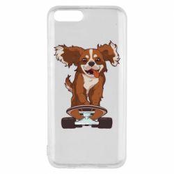 Чехол для Xiaomi Mi6 Собака Кавалер на Скейте