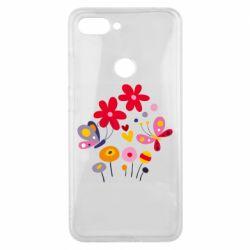 Чехол для Xiaomi Mi8 Lite Flowers and Butterflies