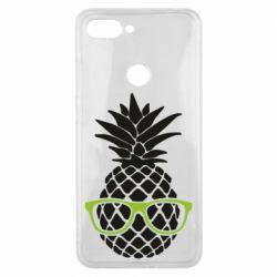 Чехол для Xiaomi Mi8 Lite Pineapple with glasses